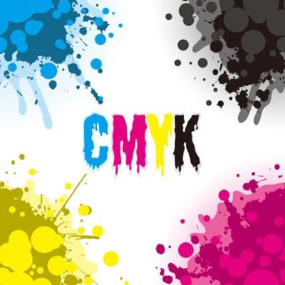 Cuatro colores CMYK
