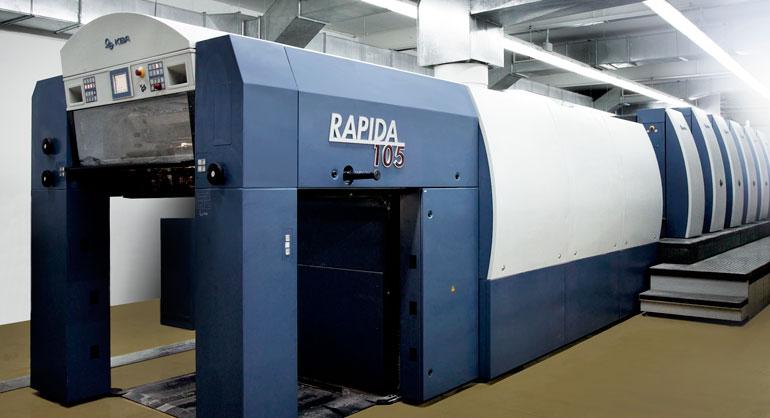 Máquina de impresión offset de La Imprenta CG. KBA Rapida 105