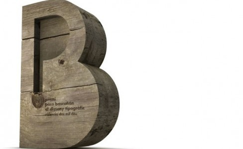 Trofeo del Premio de Tipografía Paco Bascuñán, diseñado por Daniel Nebot.