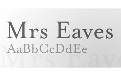 Mrs Eaves, reedición de Zuzana Licko sobre la fuente Baskerville.