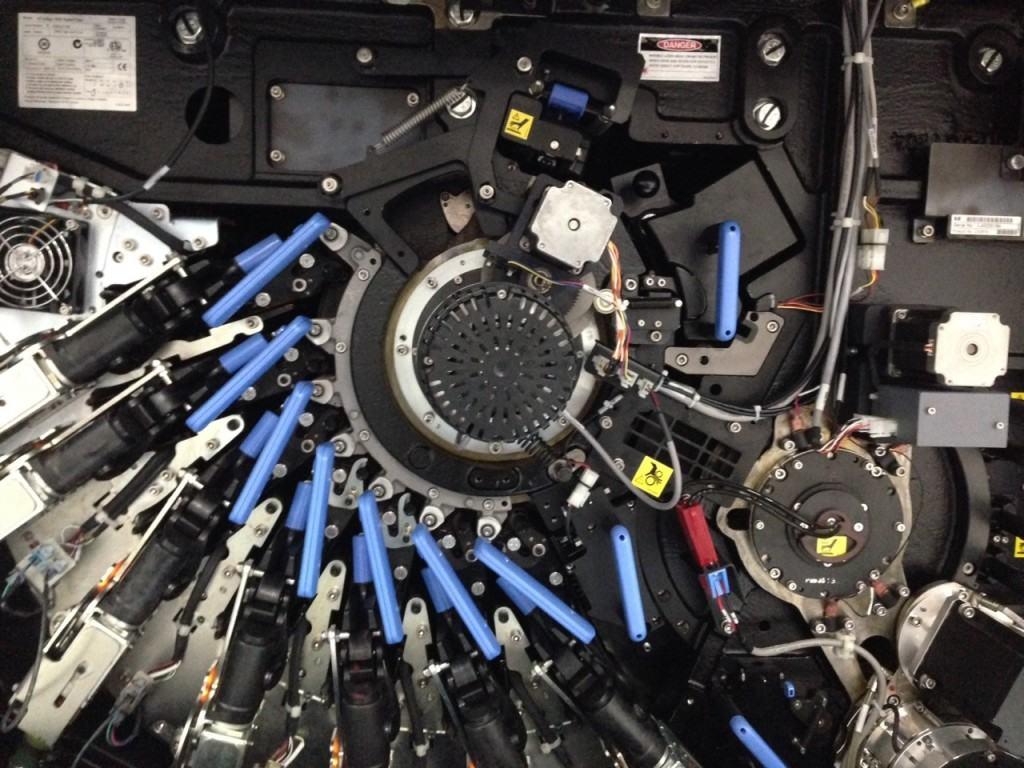 Interior de la HP Indigo 7600.