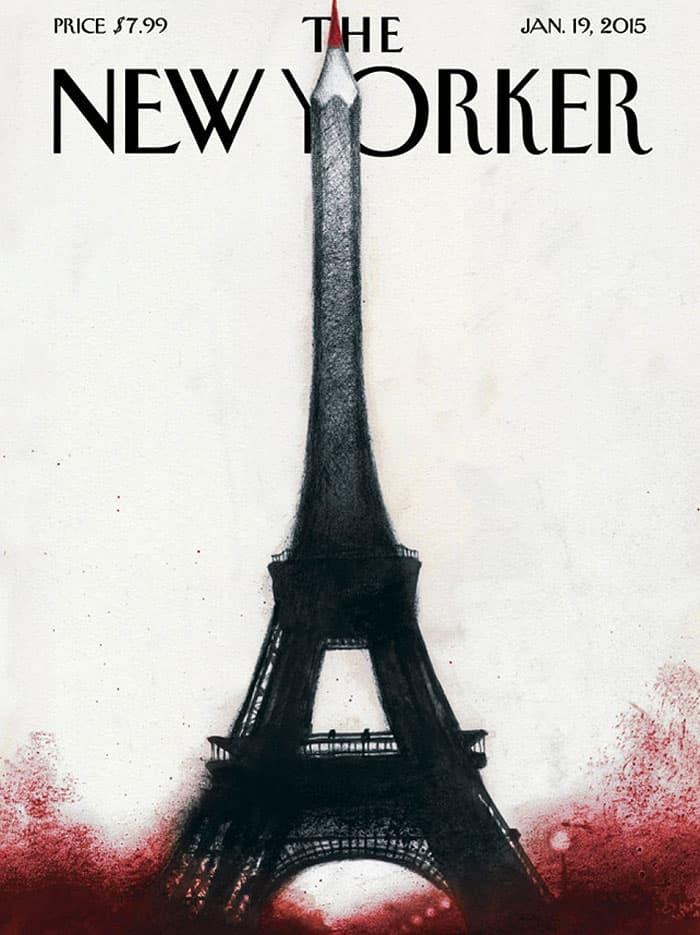 """Portada en homenaje a """"Charlie Hebdo"""" para The New Yorker."""