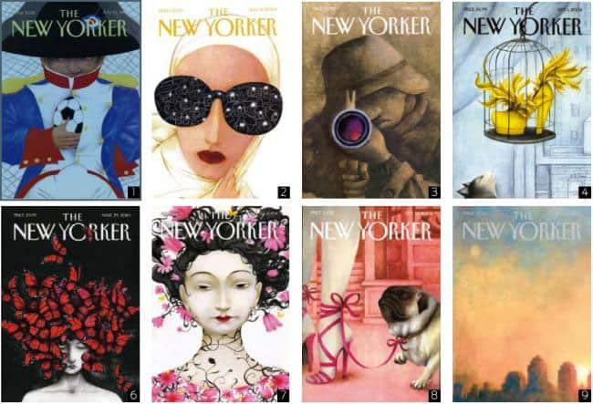 Algunas de las portadas de Ana Juan para The New Yorker.