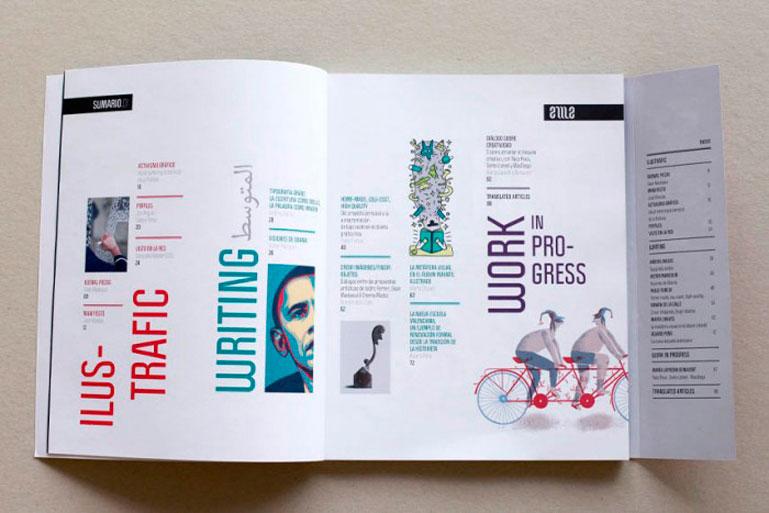 EME Mag, una revista con gran carga visual.