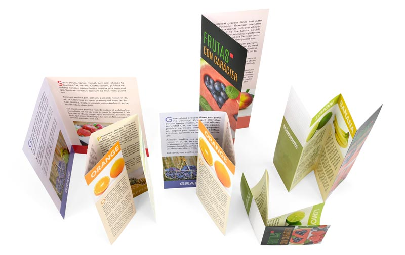 ejemplos de folletos desplegables