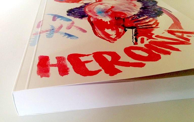 libro heroina vista de la encuadernacion