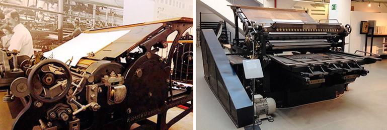 Maquinas antiguas de imprimir