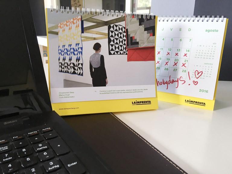 Ejemplo de calendarios impresos personalizados