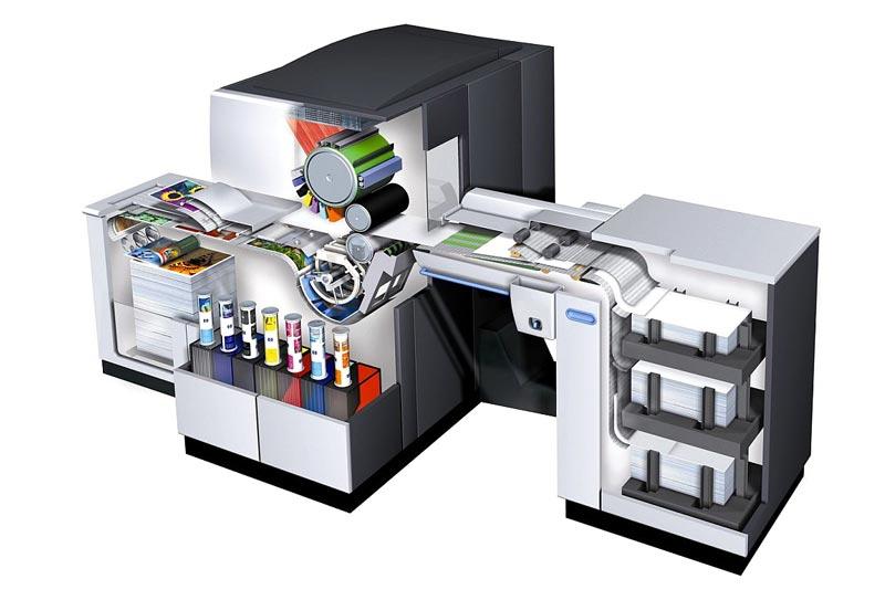 Ilustracion de una impresora digital HP Indigo