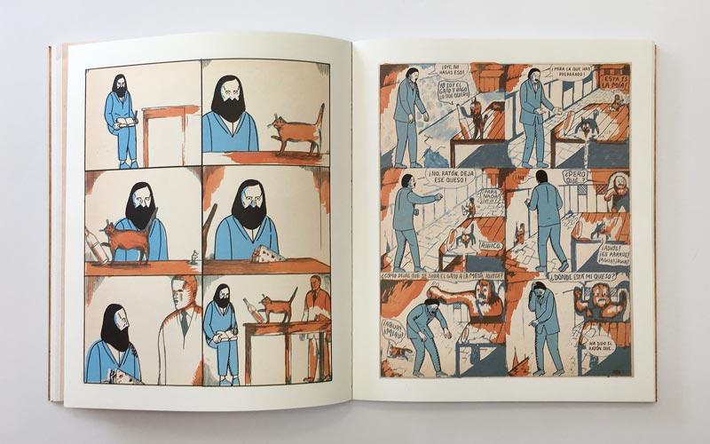 doble página del cómic el hombre que se dejo crecer la barba 4