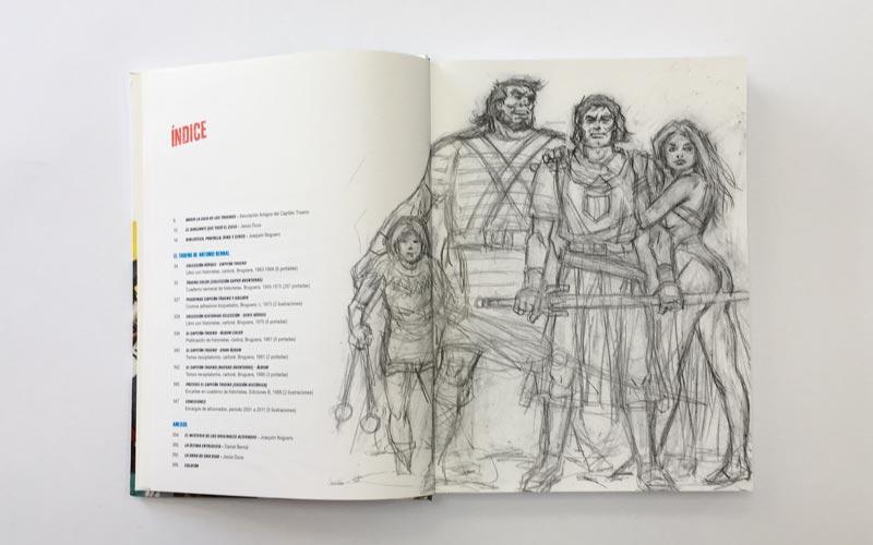 Dibujo de El Capitán Trueno - Indice