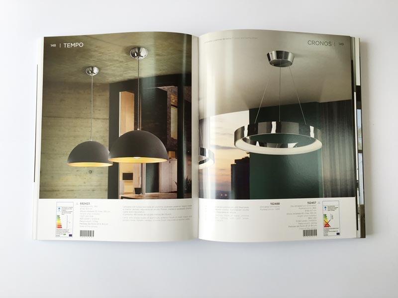 ejemplo de couche brillo en catalogo de lamparas