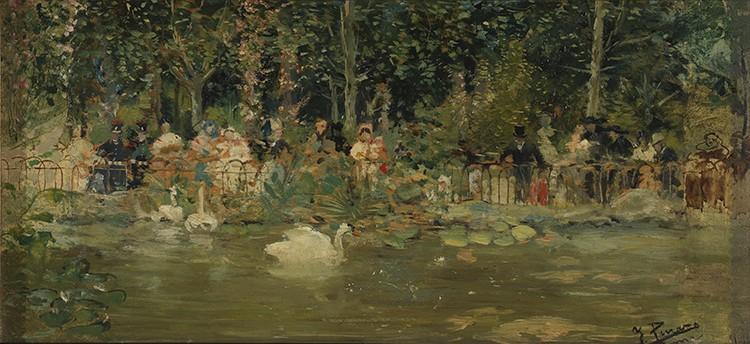 Ignacio Pinazo - A la orilla del estanque