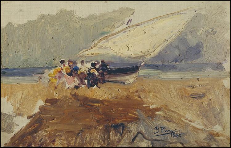 Ignacio Pinazo - Barca en la playa de Cabañas