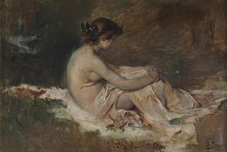Ignacio Pinazo - Desnudo de mujer