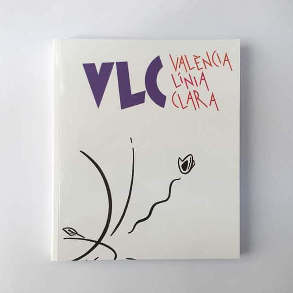 Portada del catálogo de la expo VLC. Valencia Línea Clara