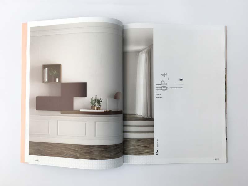 Interior del catálogo de muebles ON Plus
