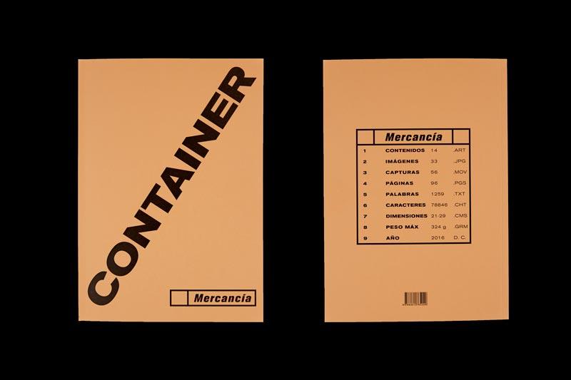 impresión de revista en papel container
