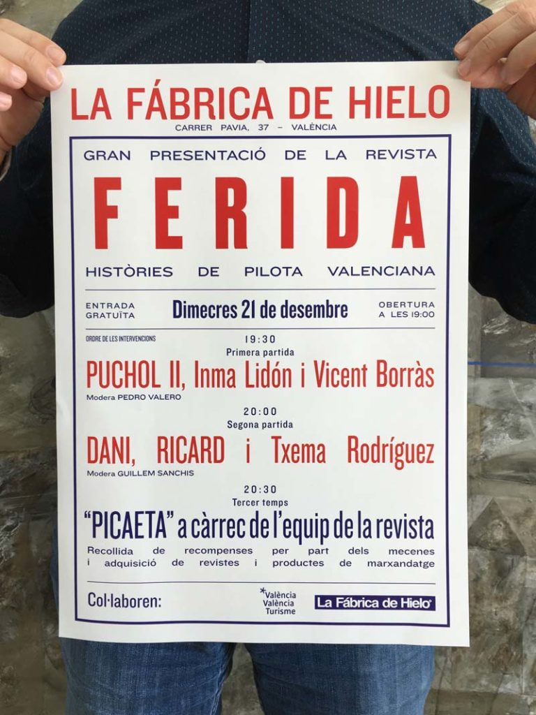 cartell de la revista ferida