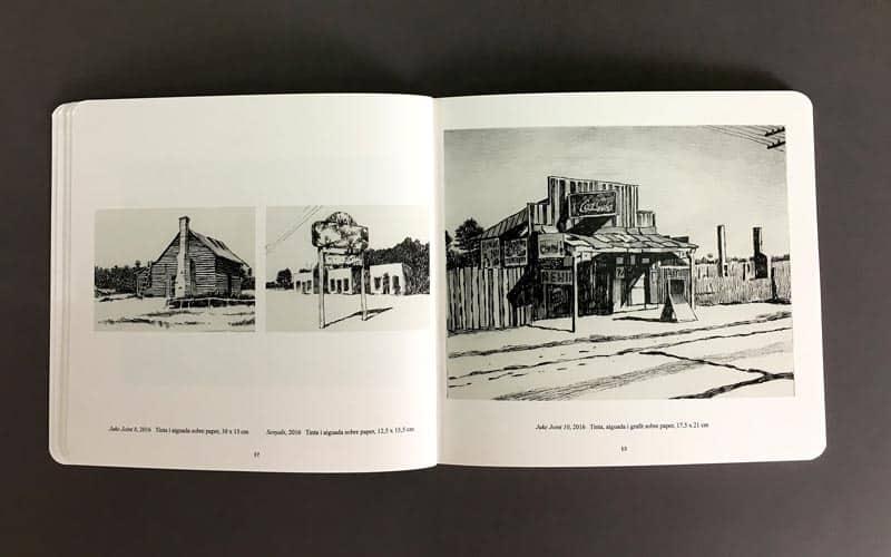 interior del libro blanc, negre i blues La Imprenta CG