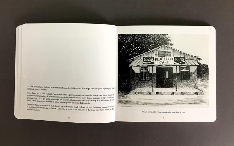 interior del libro blanc, negre i blues, impreso en La Imprenta CG
