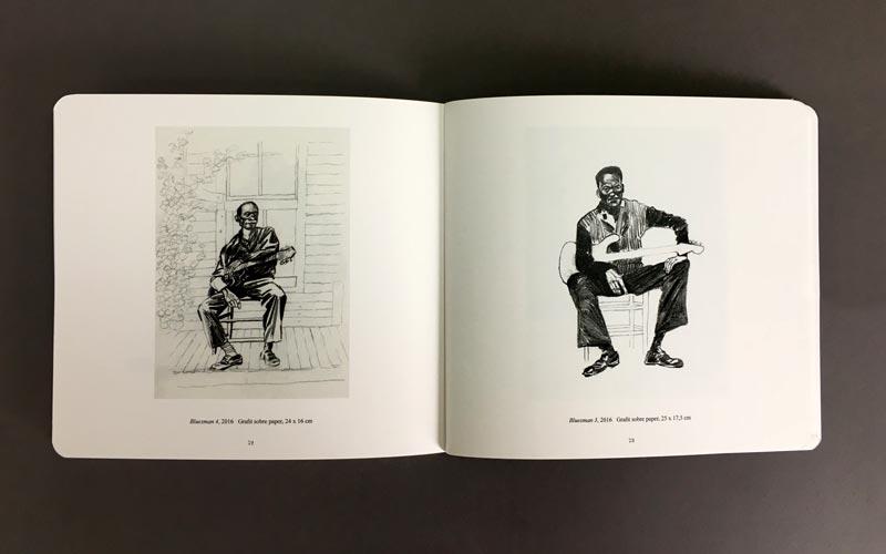 interior del libro blanc, negre i blues