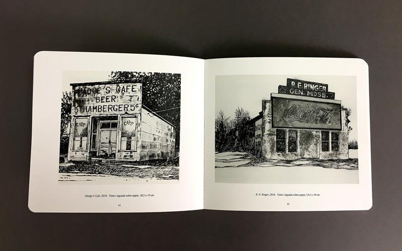 interior del libro blanc, negre i blues, La Imprenta Cg