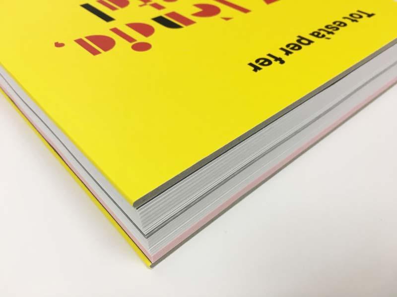 Detalle de la encuadernación catálogo Tot està per fer, València Capital de la República