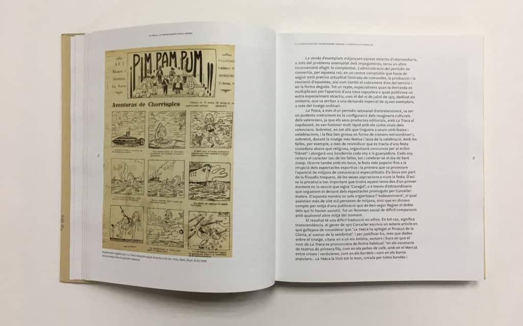 Interior del catálogo de La Traca