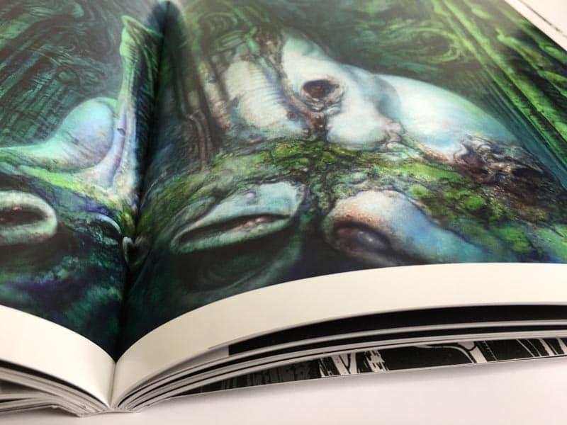 encuadernación del libro de H.R. Giger