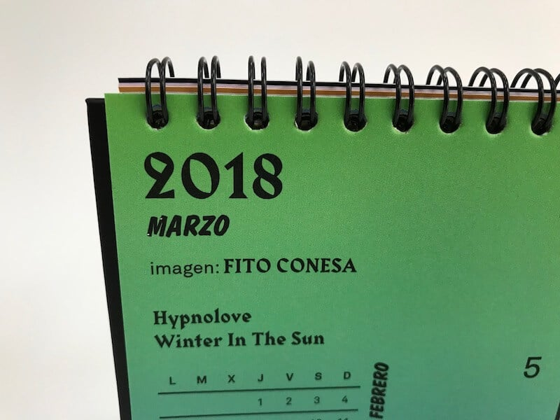 calendario 2018 la imprenta cg - detalle