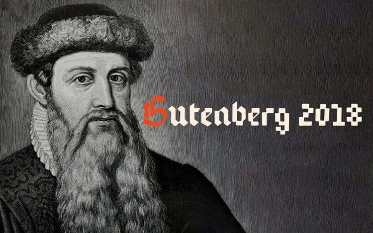 año gutenberg 2018