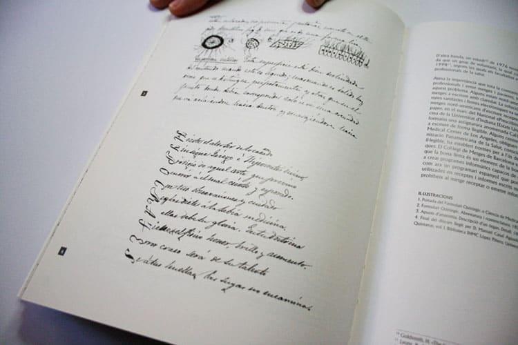 impresión libro letra de médico