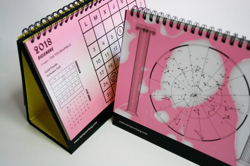 diciembre calendario tactel