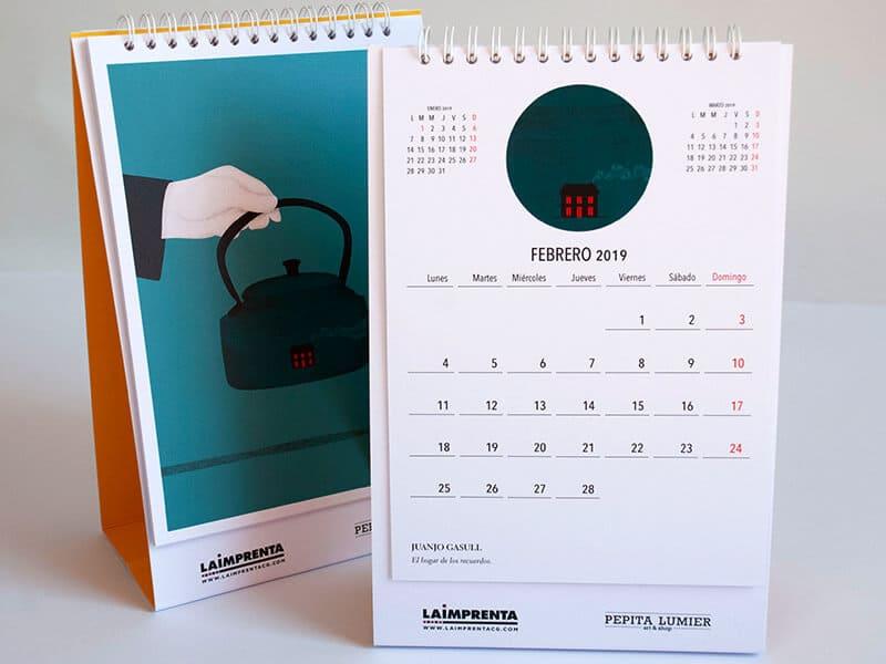Juanjo Gasull imprimir calendario