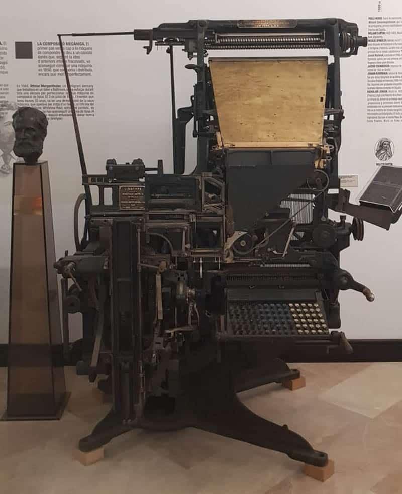 Linotipia del Museo de la Imprenta de El Puig