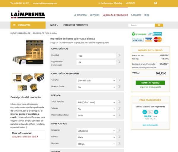 tienda online de impresión