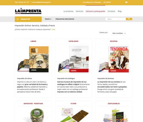 imprentaonline pagina web