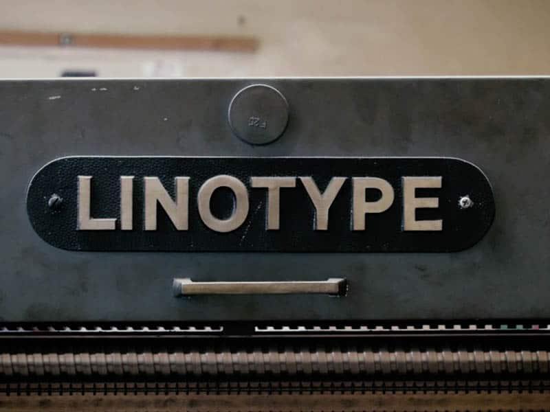 linotipia imprenta