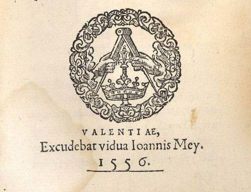 Jerónima Galés: una impresora valenciana en el siglo XVI