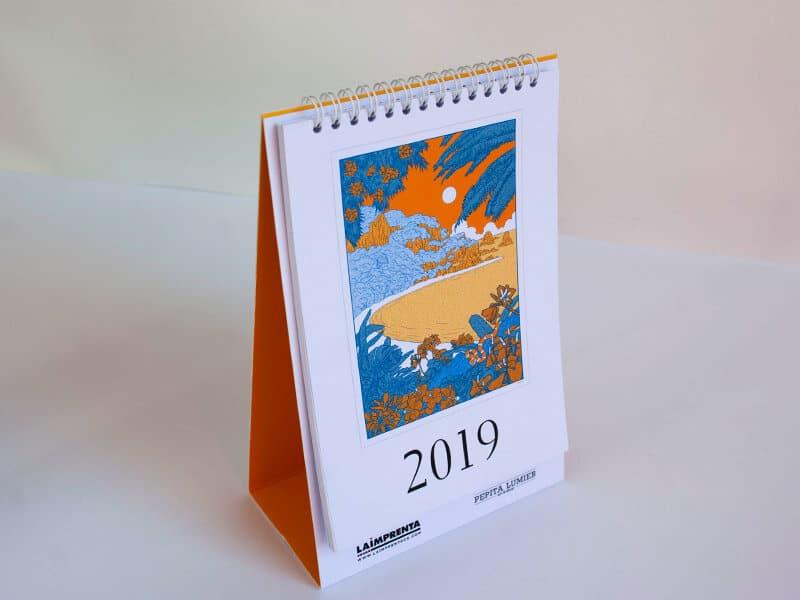 César Sebastián calendario imprenta