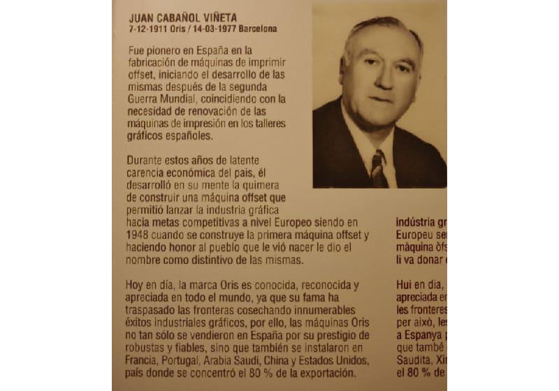 Juan Cabañol imprenta
