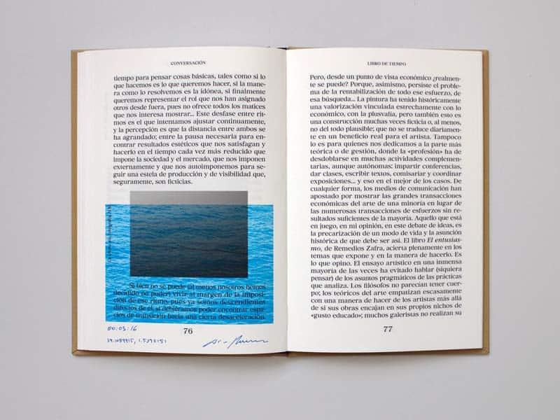 libro de tiempo azul
