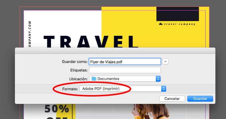 exportar a pdf en indesign paso 1