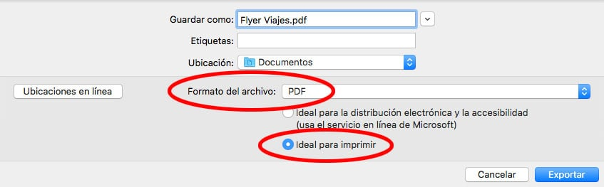 exportar word a pdf ideal para imprimir