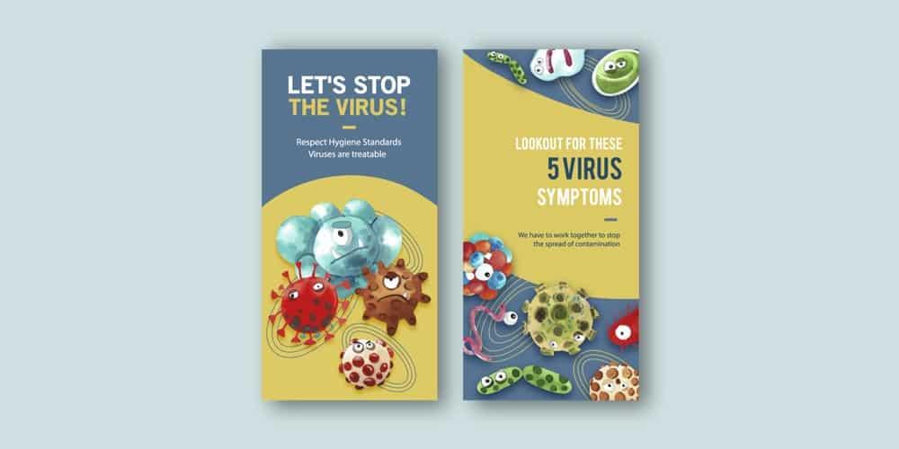 Diseño Flyer virus