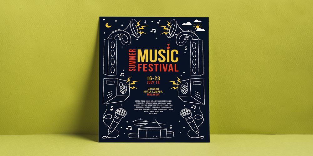Diseño flyer musica