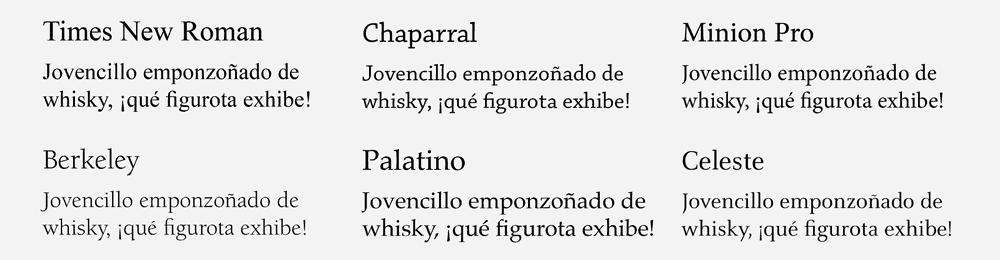 ejemplo de tipografías de rasgos