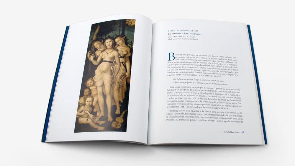 ejemplo de como maquetar un catálogo de arte