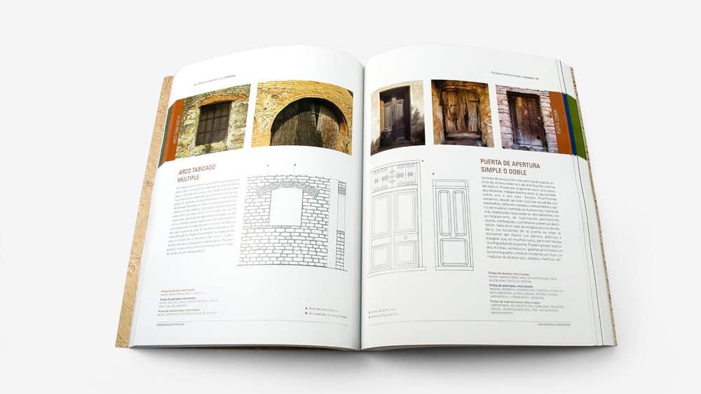 ejemplo de maquetación de un libro técnico de arquitectura